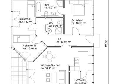 bungalow b1 grundriss
