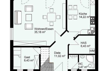 giebelhaus hanseatisch g2 grundriss2